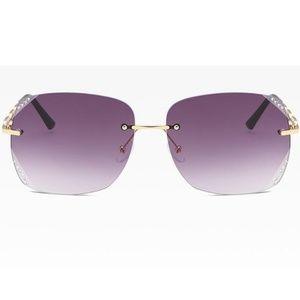 Accessories - Female Diamonds Sunglasses With Case